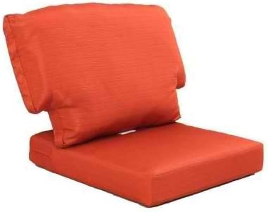 Charlottetown Quarry Red Replacement Outdoor Chair Cushion – Orange Color Woven Olefin Fabric Cushions for Comfort