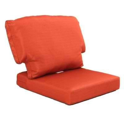Charlottetown Quarry Red Replacement Outdoor Chair Cushion - Orange Color Woven Olefin Fabric Cushions for Comfort