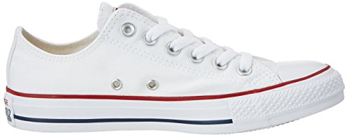 Converse Chuck Taylor All Star Ox - Zapatillas de Deporte de canvas Unisex Weiß (White/Black/Red)