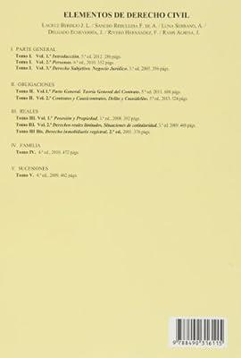 Elementos de Derecho Civil. Tomo II. Derecho de Obligaciones ...