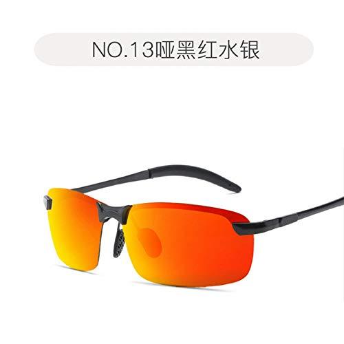 de día visión de Gafas Sol Hombres Deportes Pistola Libre al black Gafas Gafas Sol Frescas Aire de polarizadas de Noche para Nocturna Montando Matte de Metal película Burenqiq red mercury y 6SPqa
