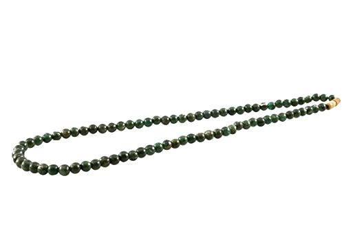 Aatm Reiki Energized Jade Beads Necklace''Stone Of Protection'' by Aatm Collection