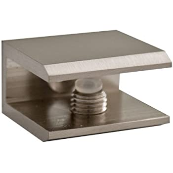 troysys brushed nickel square glass shelf bracket