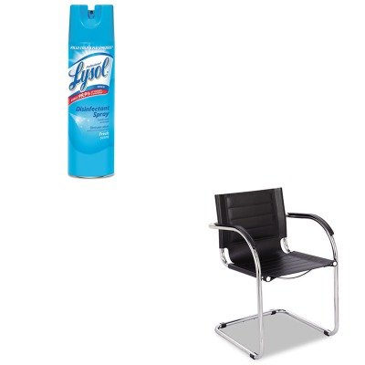 KITRAC04675EASAF3457BL - Value Kit - Safco Flaunt Series Guest Chair (SAF3457BL) and Professional LYSOL Brand Disinfectant Spray (RAC04675EA)