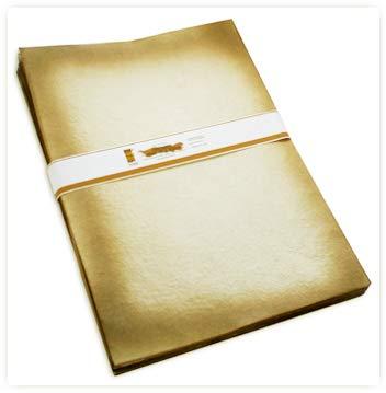(Under the Sun Handmade Printable Paper Ivory Burnt Border Effect, Cut Edges. Set of 50 Letter Size)