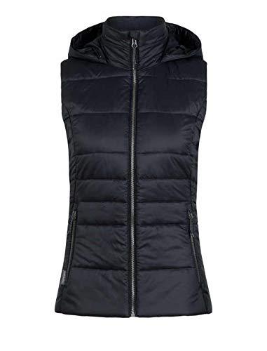 Icebreaker Stratus X Hooded Vest, New Zealand Merino Wool, Down Alternative Black/Jet Heather