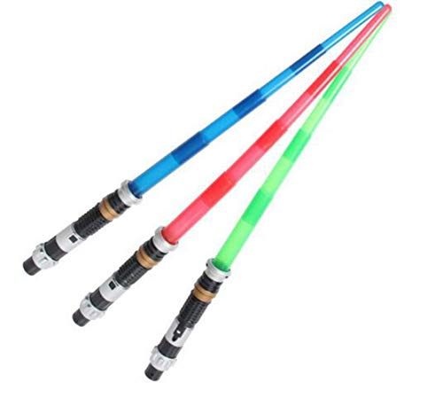 YBpineer Light Saber Telescopic Sword Light Saber Action Figure Toys with On/Off LED The (red)
