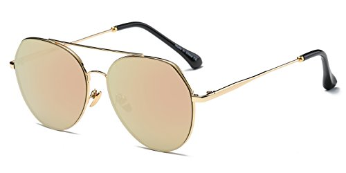 Cramilo Premium Mirrored Semi Rimless Aviator Sunglasses for Men & - Rimless Small Sunglasses