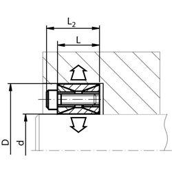 Clamping set COM-A bore 25mm size 25-50