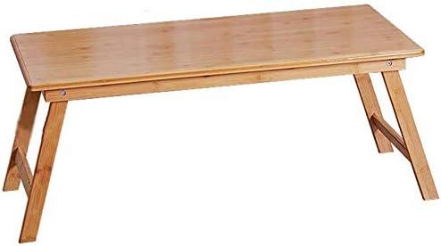 WEIZI Mesa de Madera de bambú Lugar Mesa Larga Té de la Tarde Mesa ...