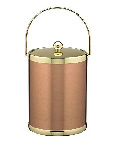 Kraftware Grant Signature Home Ice Bucket, 5 Quart, Copper