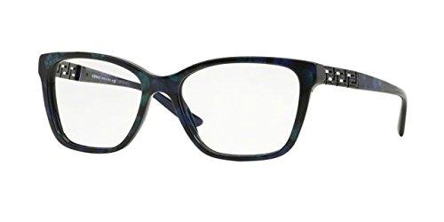 Versace VE3192B Eyeglass Frames 5127-54 - Marbled Black/Green/Blue (54 Eyeglasses)