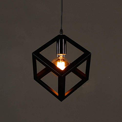 Lamp Three 26 - PLLP Chandelier-Chandelier E27 Industrial Style Iron Art 1 Lamp Holder Lamps 23 26Cm