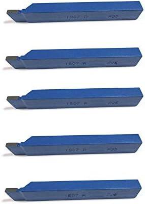 [Gesponsert]5 Stück Drehstahl 10 x 10 mm - Stech Drehmeißel mit Hartmetall - Qualität für Stahl - DIN4981