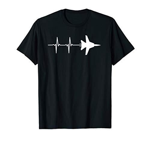 - EKG Heartbeat F-14 Tomcat Military Airplane Shirt T-Shirt