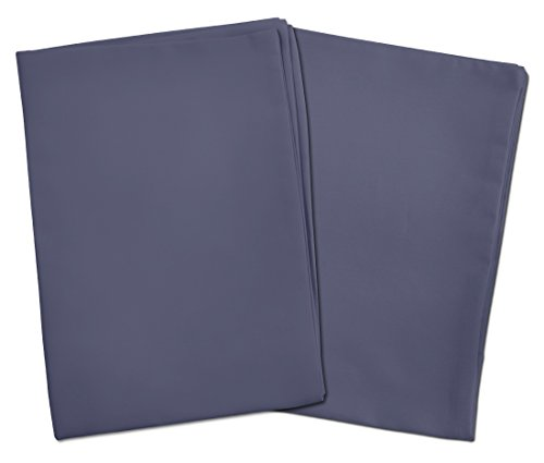 2 Steel Blue Toddler Pillowcases - Envelope Style - For Toddler and Travel Pillows Sized 13x18 and 14x19 - 100% Cotton With Percale Weave - Machine Washable - 2 ()