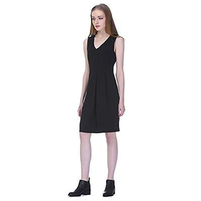 Essentialist Women's V-Neck Sleeveless A-Line Dress