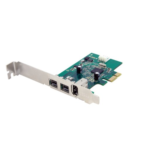 with Low Profile Bracket /& Firewire Cable QNINE Firewire Card 1394B HD DV HDV Video Capture Card for PC Windows 10 Firewire PCIe Card 3 Port Two 1394B Port /& One 1394A Port TI Chip