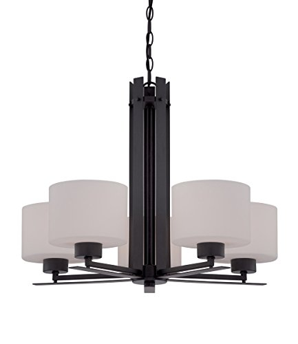 Chandeliers 5 Light with Aged Bronze Finish Metal A19 Incandescent 26 inch 300 Watts