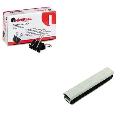 KITQRT807222UNV10200 - Value Kit - Quartet Deluxe Chalkboard Eraser/Cleaner (QRT807222) and Universal Small Binder Clips (Qrt807222 Deluxe Chalkboard Eraser)