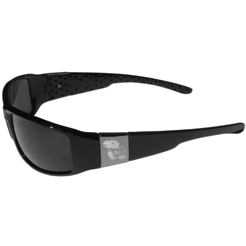 Kansas Jayhawks Chrome Wrap - Jayhawks Black Kansas Sunglasses