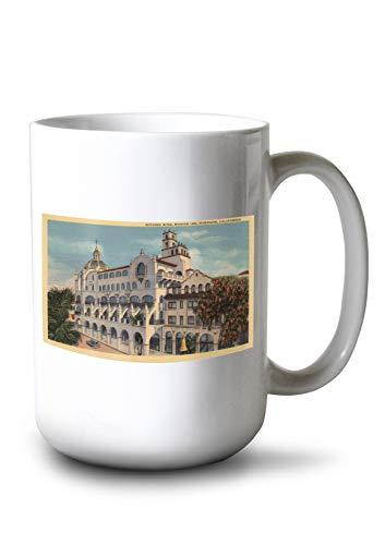 Lantern Press View of The Rotunda Wing at The Mission Inn (15oz White Ceramic Mug) ()