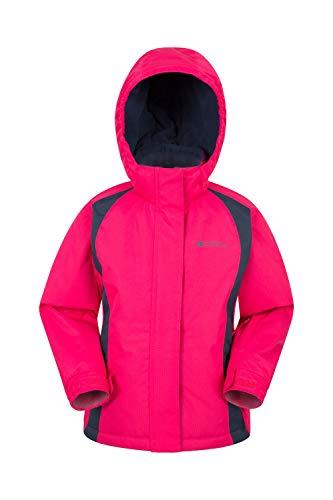 Mountain Warehouse Honey Kids Ski Jacket - Boys & Girls Winter Coat Dark Pink 5-6 Years