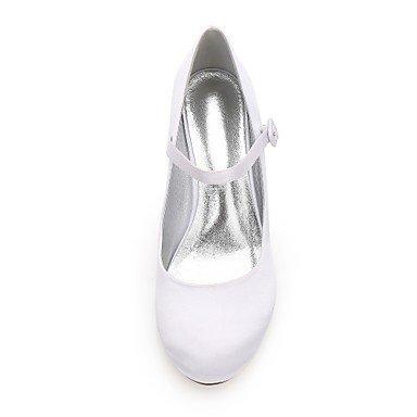 Zapatos Zapatos para Verano Satén redondo El uk4 Primavera eu36 Tacón y Tacón Tacón mejor de us6 Básico madre Stiletto Dedo regalo Bajo Mary Kitten boda mujer Confort Jane cn36 Pump Mujer EEq0avw