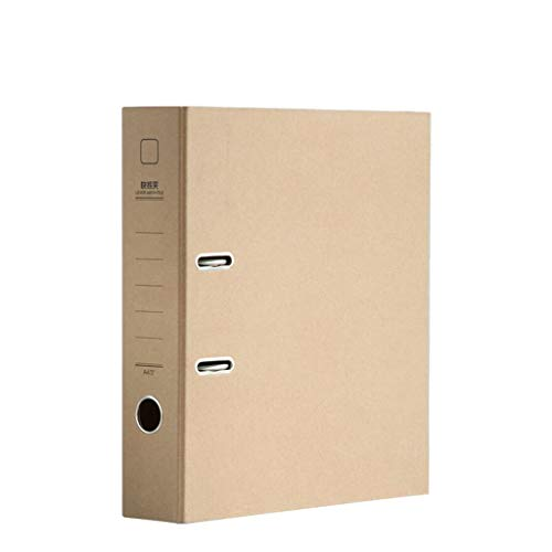 Classic Folder A4 Double Hole Thick Office Information Book Folder, Business Office Information Book Folder Expanding File Folder (Color : Natural) ()