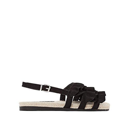 La Redoute Womens Frou Flat Sandals Black