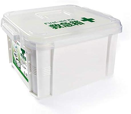 Caja Médica De Doble Capa, Kit De Primeros Auxilios De Caja Transparente De Plástico, Estuche Para Contenedores De Píldoras: Amazon.es: Salud y cuidado personal