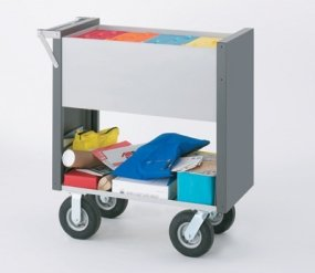 Charnstrom Medium Solid Mail Cart with 8-Inch Casters (B104Y) by Charnstrom