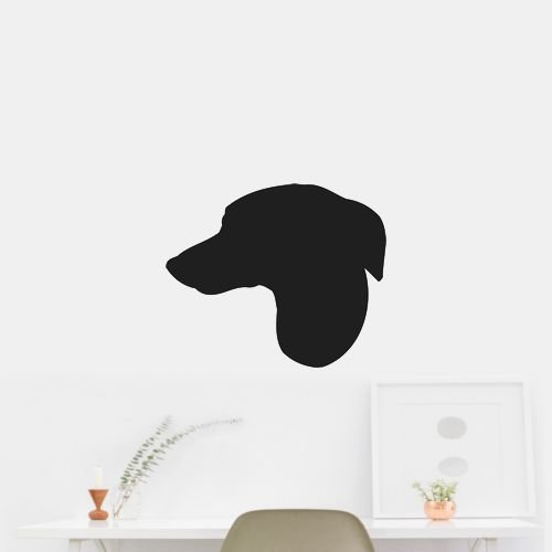 Whippet Dog Puppy Breed Silhouette Outdoor Vinyl Decal Sticker Black (Matte-Removable) 22
