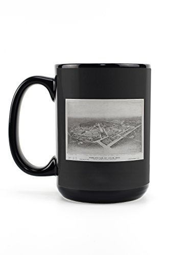 - St Louis World's Fair USA c. 1904 - Vintage Advertisement (15oz Black Ceramic Mug - Dishwasher and Microwave Safe)