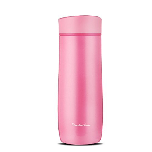 QILEYIN West Loop Vacuum Insulated Stainless Steel Travel Mug with Easy-Clean Lid 280ML (Pink)