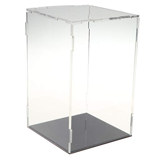 SM SunniMix Acrylic Display Box Clear Dustproof Protection Showcase for Miniatures Collectibles, 19 Size to Select - 11x11x18cm