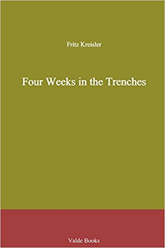 Book Four Weeks in the Trenches