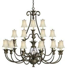Hinkley 4889PZ Traditional 22 Light Foyer from Plantation collection in Bronze/Darkfinish,