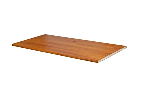"100% Solid Wood Optional Shelf For 2- and 3-Sliding Door Wardrobes/Armoires/Closets by Palace Imports, Honey Pine Color, 34.5""W x 20""D x 0.75""H, Four Metal Pins Included Solid Pine Wardrobes"