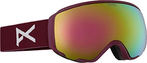Anon Women's Wm1 Goggles, Merlot with Pink Cobalt & Blue Lagoon Lens -  FBA_13230101530_Merlot/Pink Cobalt