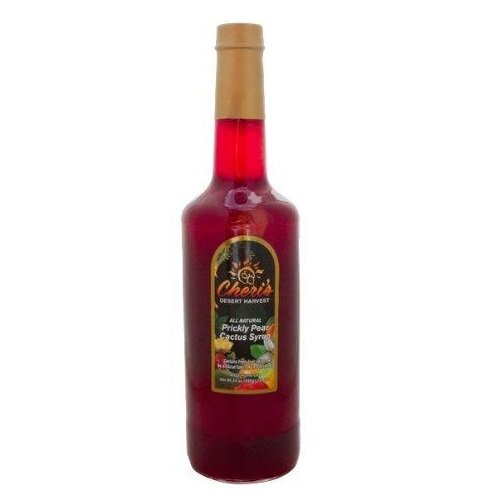 1 Bottle - Prickly Pear Syrup - 35 Oz - Giant Size - Made From Natural Prickly Pear Juice - Cactus - ()
