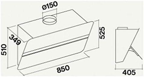 Falmec Flipper Green Tech - Campana extractora (85 cm), color blanco satinado: Amazon.es: Grandes electrodomésticos