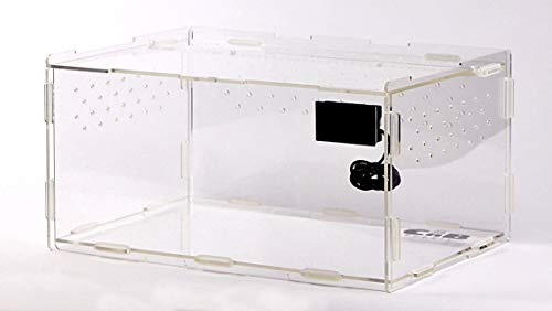 CnB Supply Habi-Flat - Acrylic Terrarium for Reptiles, Tarantulas, Amphibians and Other Small Animals