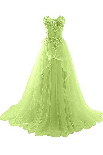 Herzform Abendkleider Hochzeitskleid Jaegergruen Ivydressing Damen Lang Ballkleider Spitze Romantisch qwCEIxBz