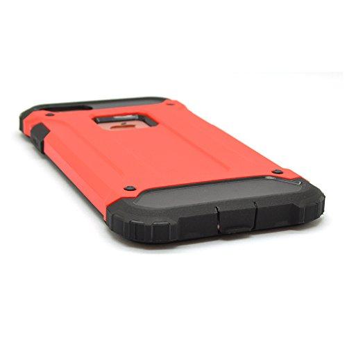 iProtect Apple iPhone 7, iPhone 8 Hülle Dual Layer Hard Case stoßfeste Schutzhülle in schwarz und rot
