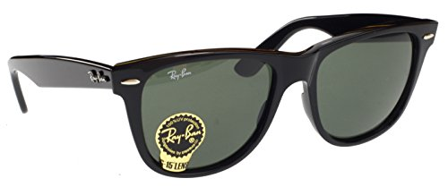 Ray Ban Original Wayfarer Sunglasses, Black, G15 Lens, Extra Large 54mm Lens - Sunglasses Large Wayfarer Extra