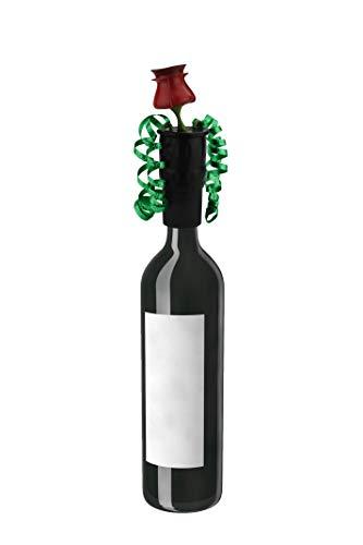 Bottleful Bows Reusable Rose Design Wine/Liquor Topper Stopper Cork Sealer Bottle Decor | Gift