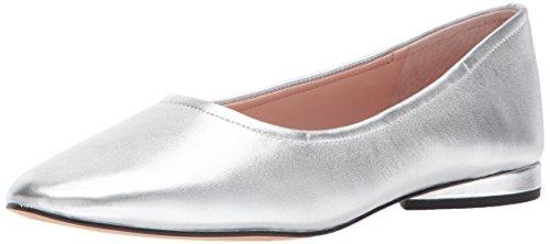 Avec Les Filles Women's Myrina Ballet Flat, Silver/Metallic Nappa, 10 M US