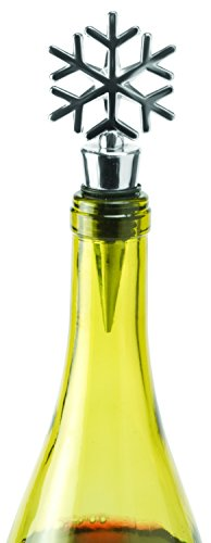 - Snowflake Wine Bottle Stopper by True, Silver