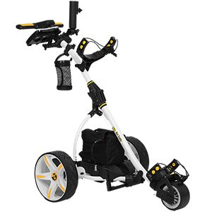 Bat-Caddy X3R Remote Control Cart w/ Free Accessory Kit, White, 20Ah Lithium -